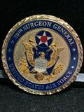 Challenge Coin : 20th Surgeon General USAF/ Presented by LT General C. Bruce Green MD