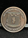 Challenge Coin : 143d Signal Battalion / Tough Soldier/ 3d armored division Spearhead