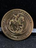 Challenge Coin : Saint George Patron Saint of Cavalry / The US Cavalry defenders of Freedom