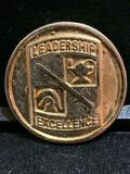 Challenge Coin : Leadership Excellence / Presented by the commander US Army 1st Region ROTC Cadet