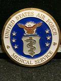 Challenge Coin : USAF Medical Service/ Presented By The Deputy Surgeon General See Pic