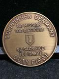 Challenge Coin : Goeppingen Germany / No mission to Difficult / No Sacrifice To great /1st INF FWD