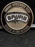 Challenge Coin : USSA Military Appreciation Night San Antonio Spurs / 01-29-2010