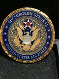 Challenge Coin : 21st Surgeon General USAF/ Presented by LT General Thomas W Travis