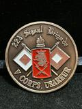 Challenge Coin : 22d Signal Brigade V Corps USAREUR/ 1989 Army Theme The NCO