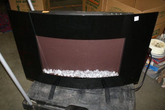 Febo Flame Electric Fireplace 1500w Heater With Settings Blower