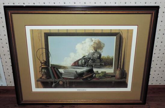 Ward H. Nichols Memorabilia Train Lithograph