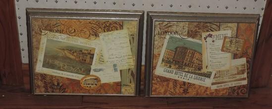 Decorative Rome & London Travel Plaques