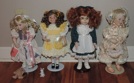Lot Of 4 Collector Dolls