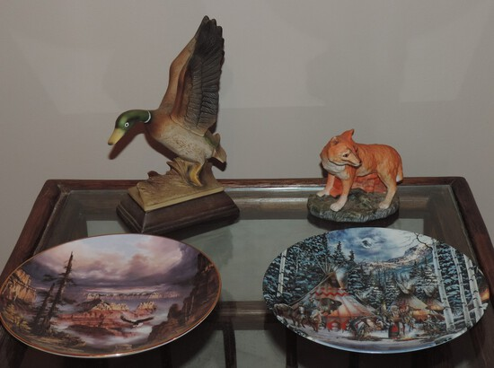 Lot Of Collector Plates & Animal Figurines