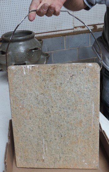 Antique Foot Warming Stone