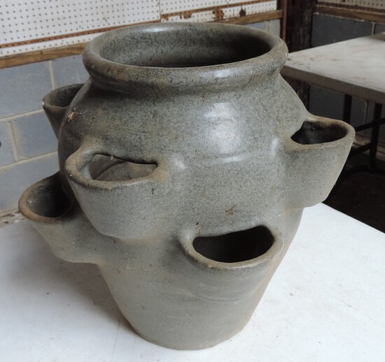 Large NC Pottery Hen and Chick Pot