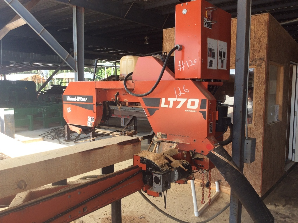 Lot: 2014 -Wood-Mizer LT70 portable band sawmill 32' capacity w/ log