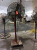 "Leading Edge 30"" floor fan on casters."