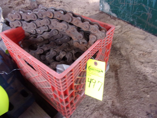 CRATE OF ROLLER CHAIN