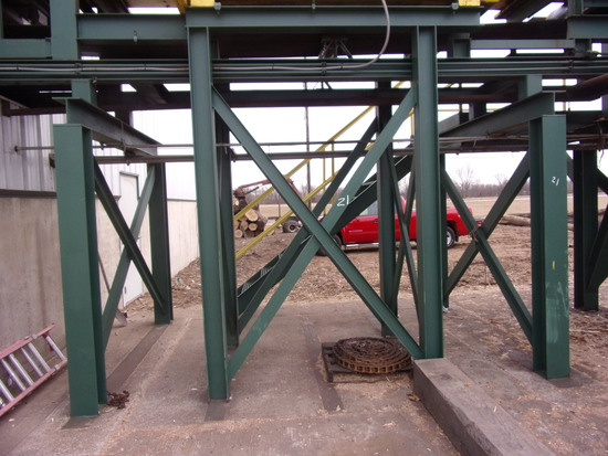 SUBSTRUCTURE UNDER METAL DETECTOR