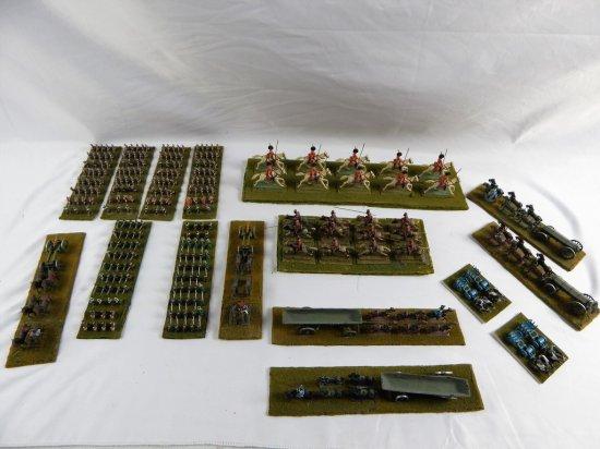 16 PEWTER SOLDIER BATTLE SCENES
