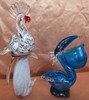 PAIR OF ARTGLASS BIRDS