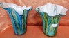 PAIR OF COLOFUL ARTGLASS VASES