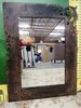 "METAL FRAMED MIRROR 36"" TALL"