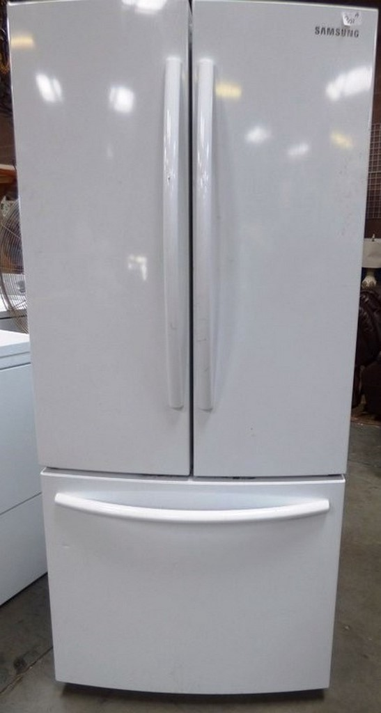 Lot Samsung White Refrigerator Freezer Side By Side With Drawer