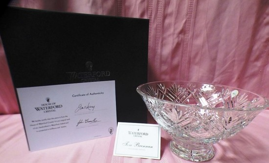 WATERFORD CRYSTAL W/ CERTIFICATE (PRICED FOR 350.00
