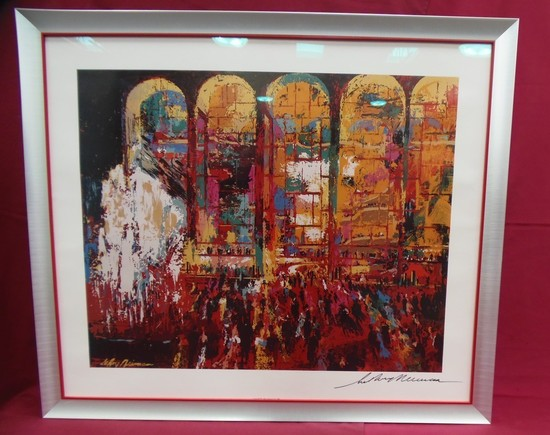 HAND SIGNED LITHOGRAPH LEROY NEIMAN - SILVER FRAMED
