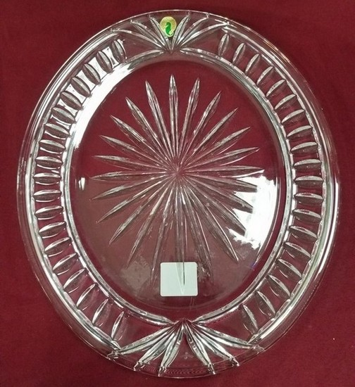 """13"""" SIGNED WATERFORD OVERTURE PLATTER"""