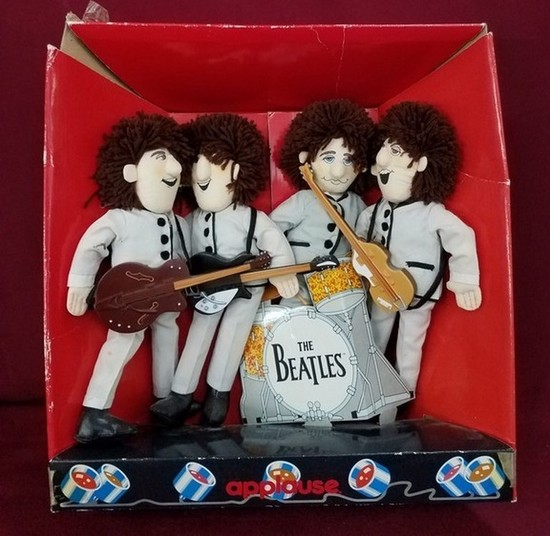 PLUSH BEATLES DOLL SET BY APPLAUSE IN BOX
