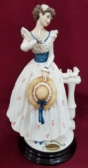 ARMANI FLORENCE VICTORIAN LADY WITH HAT FIGURINE