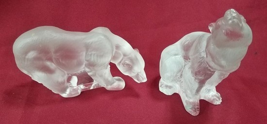 PAIR OF RARE LLADRO FROSTED BEARS