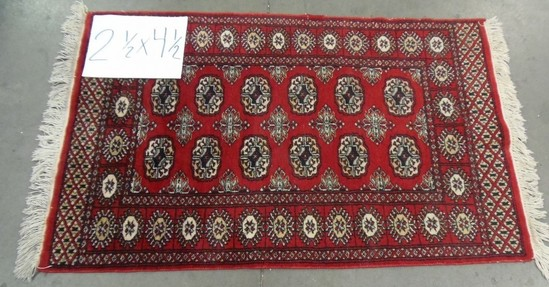 2 1/2' X 4 1/2' RED ANTIQUE HAND MADE RUG