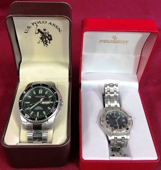 LOT OF TWO MEN'S WATCHES -  SEE PICS FOR DETAILS