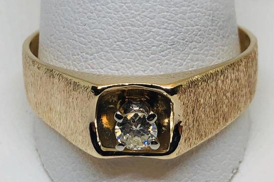 10KT YELLOW GOLD .25CTS DIAMOND RING