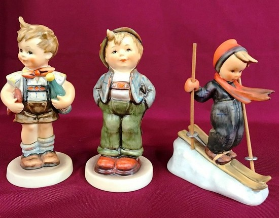 LOT OF THREE GERMAN GOEBEL PORCELAIN FIGURINES