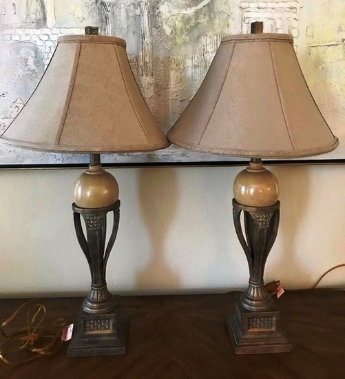 PAIR OF GORGEOUS MATCHING LAMPS