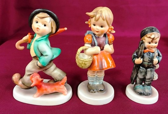 LOT OF THREE GERMAN HUMMEL/GOEBEL PORCELAIN FIGURINES