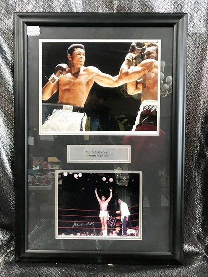 "SIGNED MUHAMMAD ALI ""THE GREATEST OF ALL TIME"" FRAMED ARTWORK"