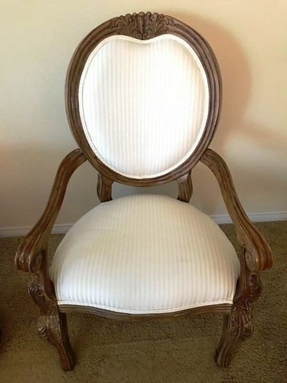 SINGLE OVAL BACK OCCASIONAL ARM CHAIR FROM ESTATE