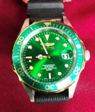 LIKE NEW INVICTA MEN'S WATCH - GREEN FACE