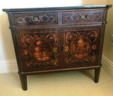 NICE INLAID ENTRY CABINET