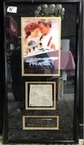 FRAMED COLLECTIBLE ARTWORK FROM THE MOVIE, TITANIC