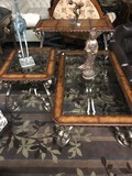 3PC GLASS TOP COFFEE TABLE, END TABLE, & SOFA TABLE