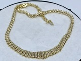10KT YELLOW GOLD 5.00CTS DIAMOND NECKLACE