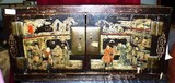 EXTREMELY OLD ASIAN HAND PAINTED CABINET  - 32