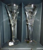 SIGNED WATERFORD CRYSTAL PAIR OF GLASSES  WITH BOX