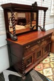 GORGEOUS ANTIQUE MAHOGANY SIDEBOARD WITH MIRRORED BACK