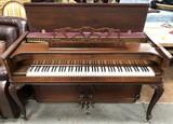 WALNUT UPRIGHT PIANO BY ACROSONIC