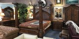 CA KING SIZE 4 POSTER BEDROOM SUITE FROM ESTATE (NOT MATT & BOX)