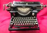 WOODSTOCK ANTIQUE BLACK TYPE WRITER